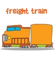 Freight train art vector image