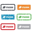 Fresh product sign icon Leaf symbol vector image