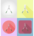 garden tools flat icons 13 vector image