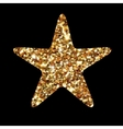 Golden glitter star geometric Modern style vector image