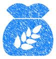 grain harvest sack grunge icon vector image