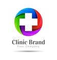 Medicine idea logo template Creative vector image