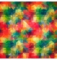 Multicolor Abstract triangle mosaic background vector image