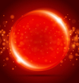 red orb background vector image