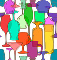 Seamless pattern of cocktail glasses vector image