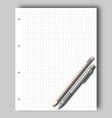 Sketch pad and pencil vector image