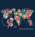 social network concept flat design for web sites vector image
