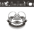 Tattoo shop logo emblem Black and white vector image