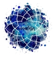 Watercolor geometric cosmic frame vector image