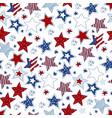 vintage doodle stars seamless pattern vector image