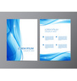 Abstract modern wavy blue flowing flyer vector image