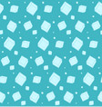 abstract blue pattern with ice cubes vector image
