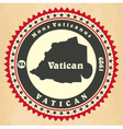 Vintage label-sticker cards of Vatican City vector image