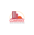 real estate company logo vector image vector image