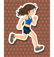 Running vector image vector image