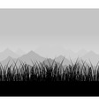 mountains in a grey fog a vector illustration vector image