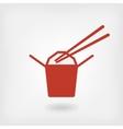Chinese food box logo vector image