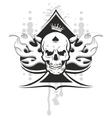 Ace of spades skull vector image
