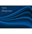 Artistic blue fabric texture background vector image