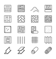 Building materials line icons vector image