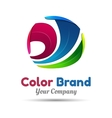 Business Abstract colorful logo on white vector image
