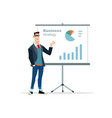 businessman presentation on white vector image
