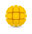 Divided yellow sphere vector image