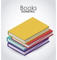 isometric books icon design vector image