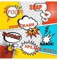 Pop art background vector image