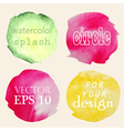 Watercolor hand painted circles vector image