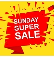 Big sale poster with SUNDAY SUPER SALE text vector image