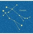 Night Sky with Gemini Constellation vector image