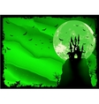Spooky Halloween composition vector image vector image