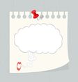 speech bubble on paper note vector image