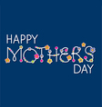 mothers day hand lettering headline vector image