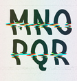 CMYK Print Distortion Font from M to R vector image