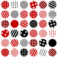 Patterned circles background vector image vector image