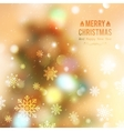 christmas tree blurred vector image vector image