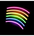 neon rainbow vector image vector image