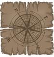 old damaged dark sheet of paper vector image