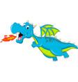 blue dragon cartoon flying vector image