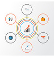 business flat icons set collection of chatting vector image