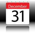 Calendar of December on black background vector image