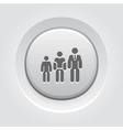 Career Growth Icon Grey Button Design vector image