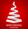Christmas tree made of folded paper origami 14 vector image
