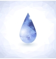 Diamond in Water drop vector image