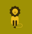 flat icon on background cartoon lion vector image