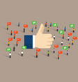 like thumbs up social media public engagement vector image
