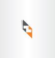 orange black letter z logo element vector image