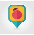 Orange flat pin map icon Tropical fruit vector image